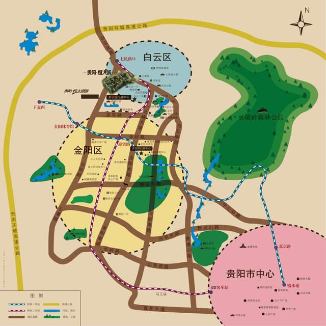 贵阳恒大城商铺位置图