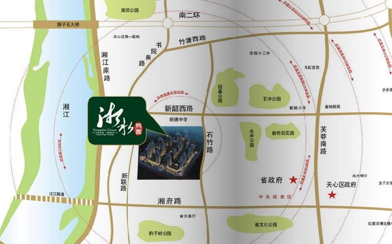 湘水熙园位置图