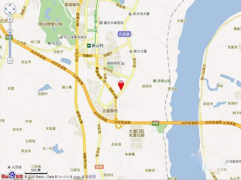 中冶城邦国际 位置图