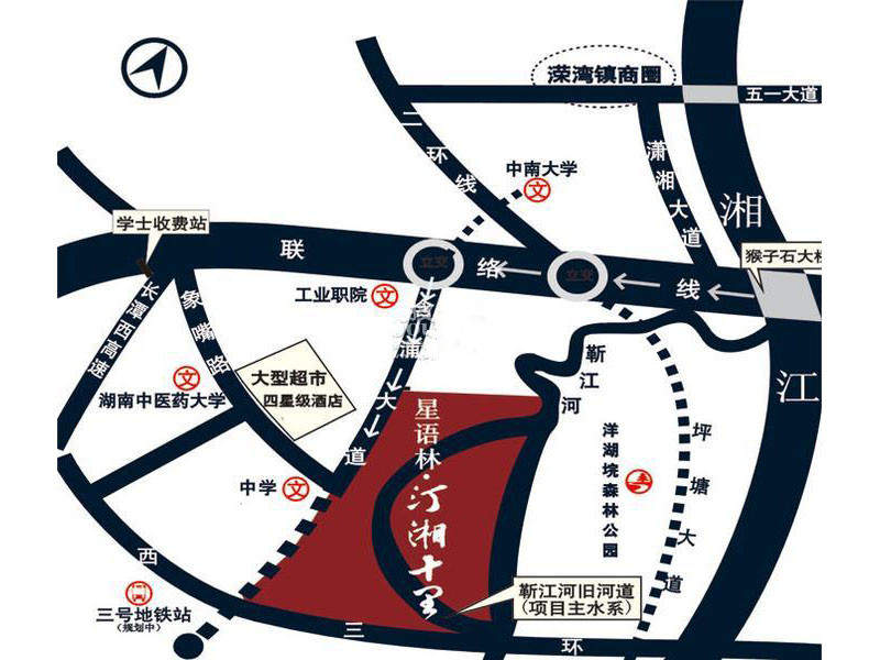 星语林汀湘十里位置图