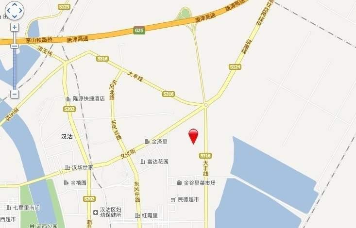 汉滨城市花园位置图