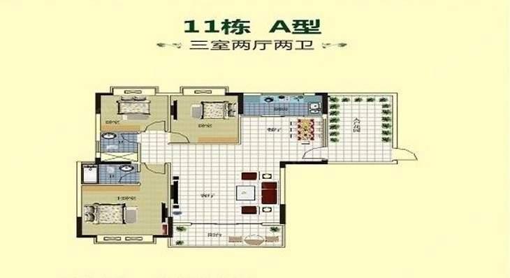 杨柳山庄户型图