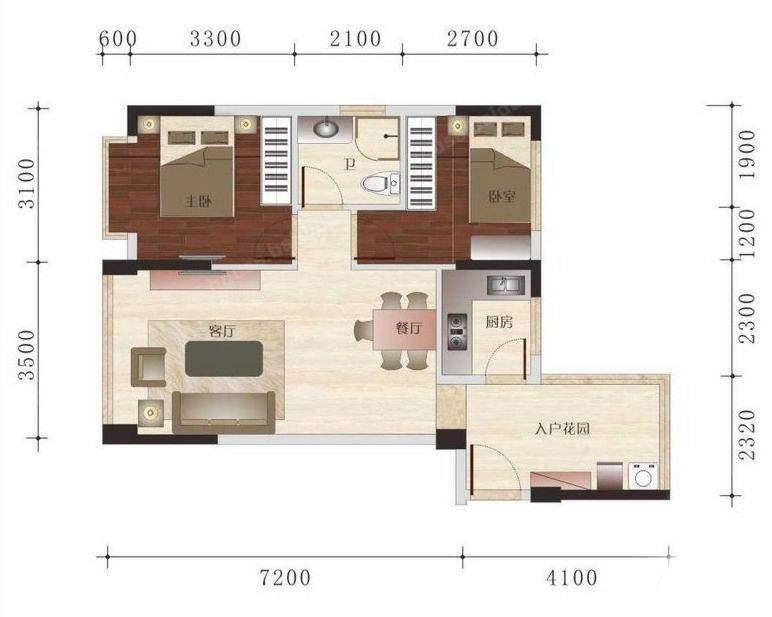 领寓户型图