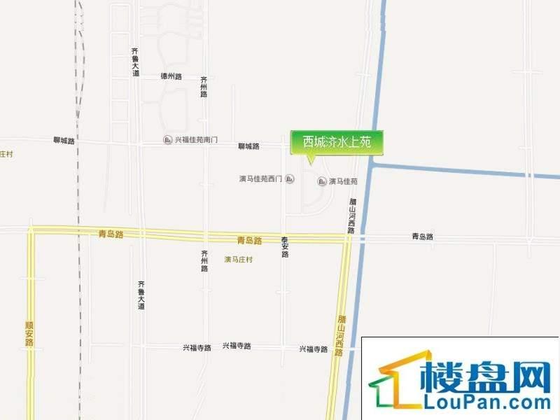 西城济水上苑北区位置图