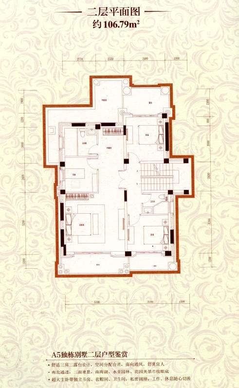 a5独栋别墅二层平面图