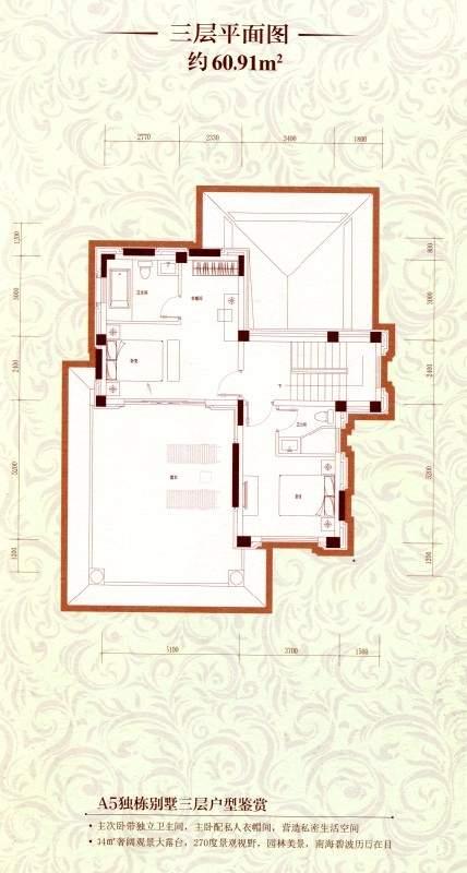 A5独栋别墅三层平面图