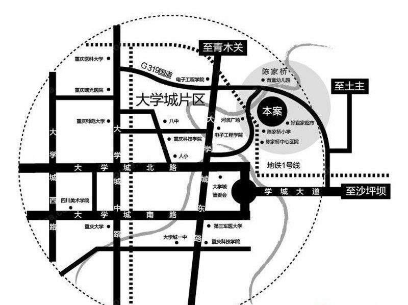 新港左岸陈桥 位置图