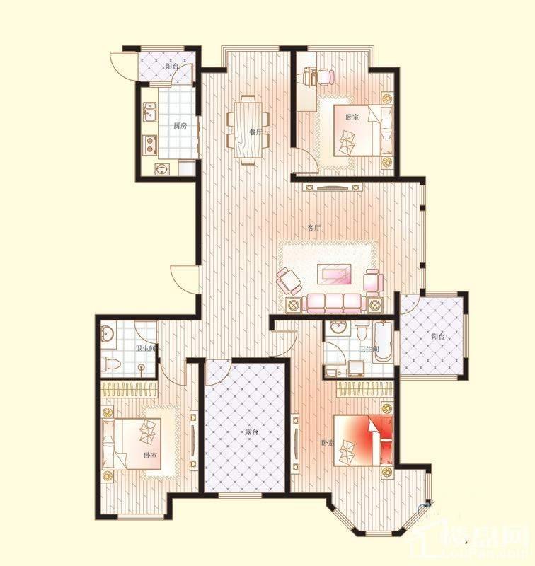 6号楼、7号楼、11号楼E户型