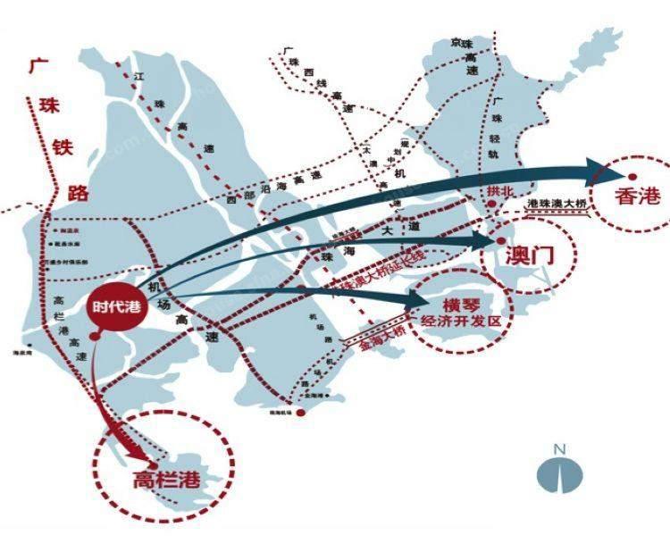时代港位置图