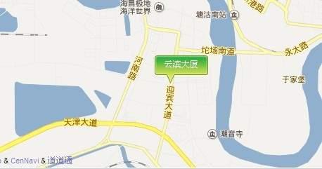 云滨大厦位置图