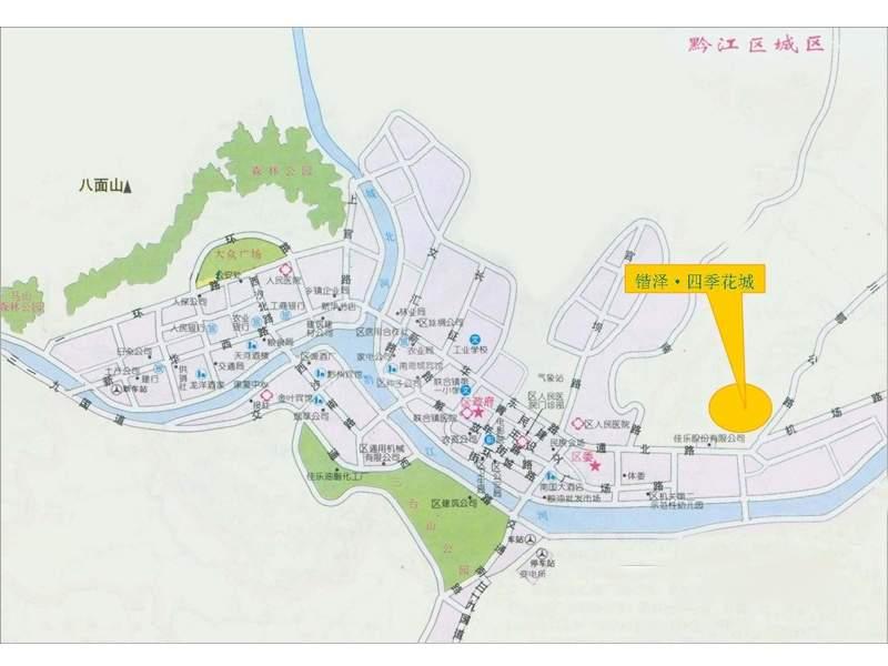 锴泽四季花城位置图