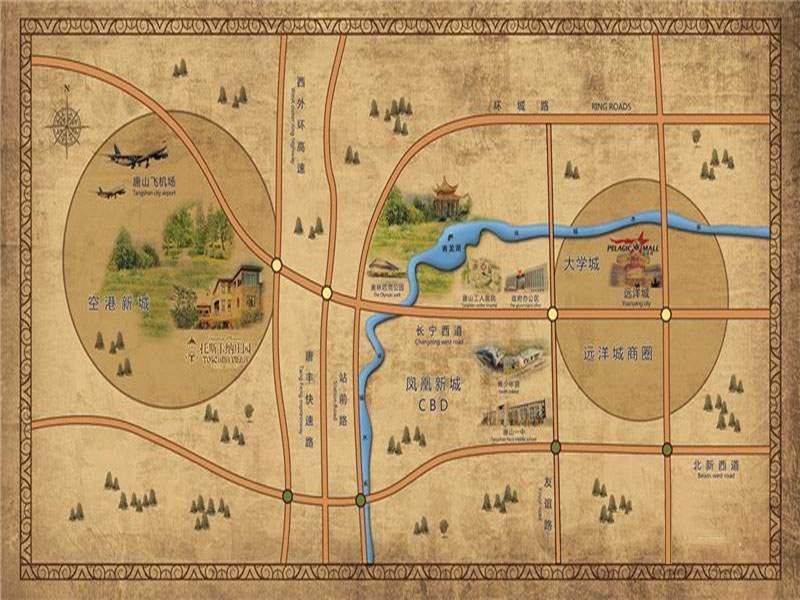 托斯卡纳庄园位置图