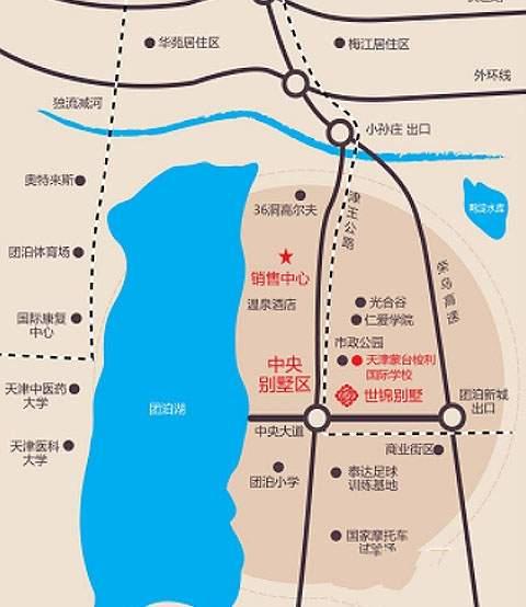 世锦别墅位置图