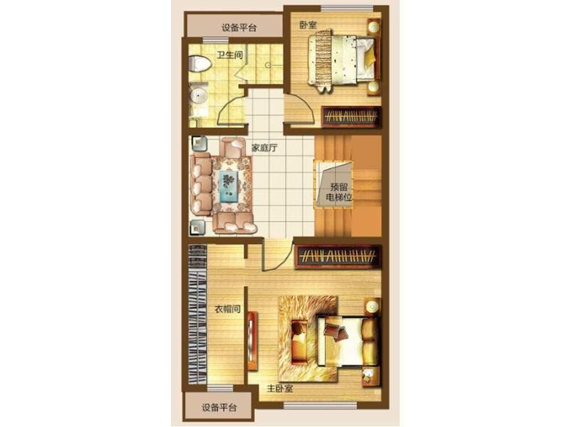 一期联排别墅A户型二层