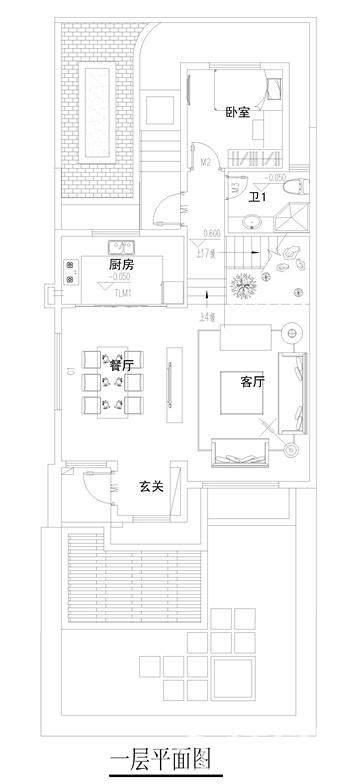 二期联排别墅平面图(边户)