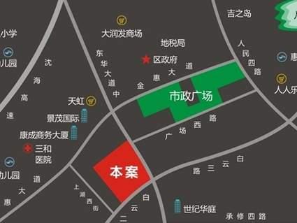 诚杰壹中心位置图