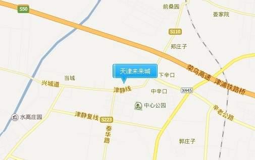 天津未来城位置图