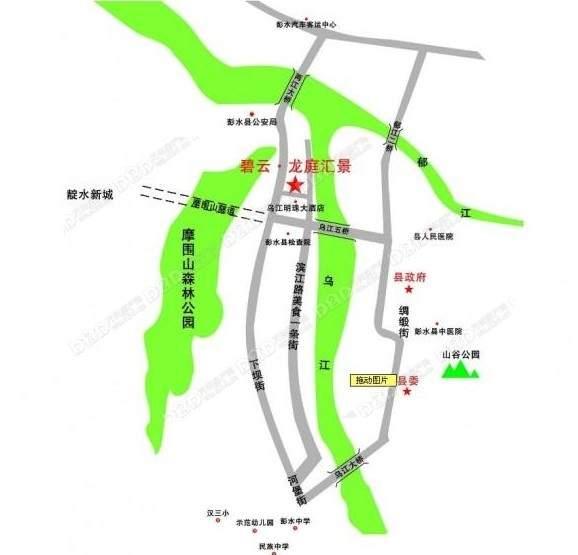 碧云龙庭汇景 位置图