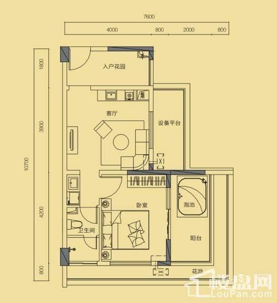 假日公寓G6户型(3期)