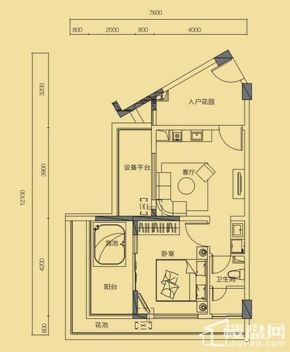 假日公寓G7户型(3期)
