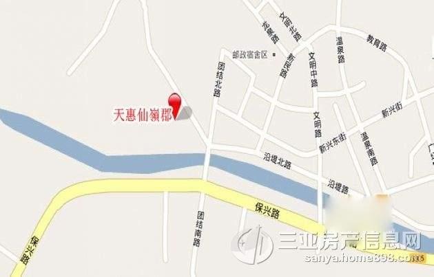 天惠仙嶺郡位置图