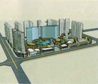 北城广场效果图