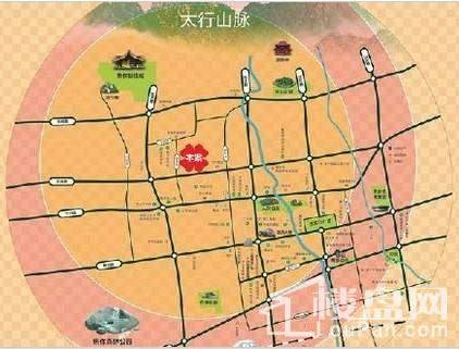 绿都·叠翠园位置图