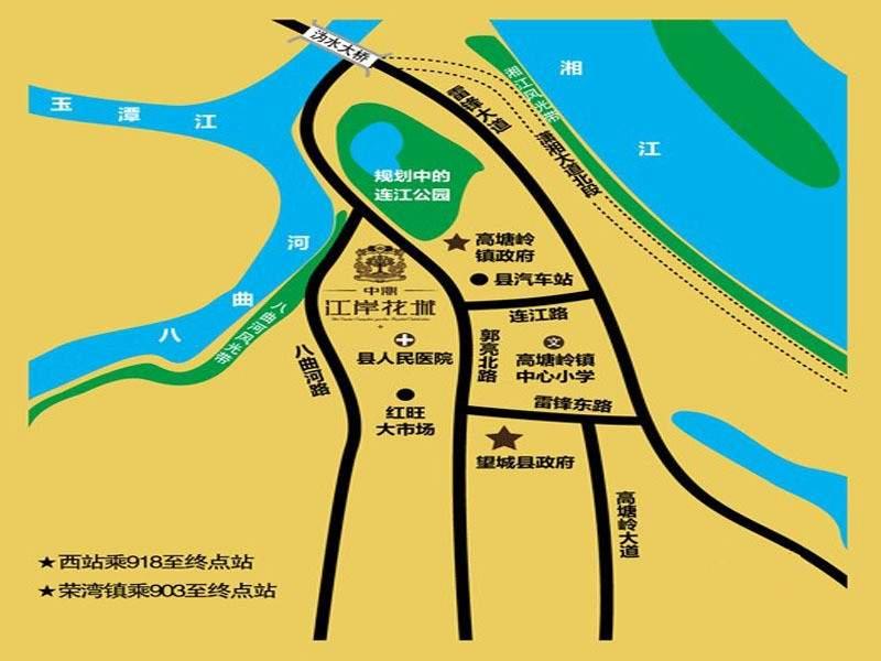 中鼎江岸花城位置图
