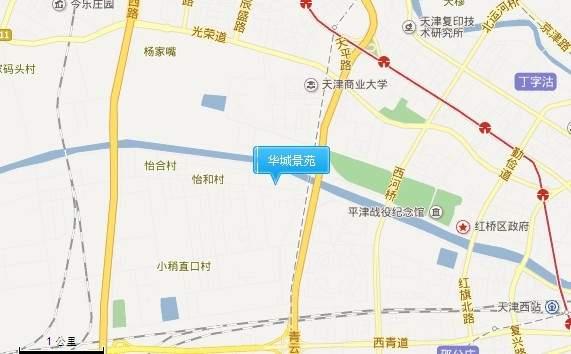 华城景苑位置图