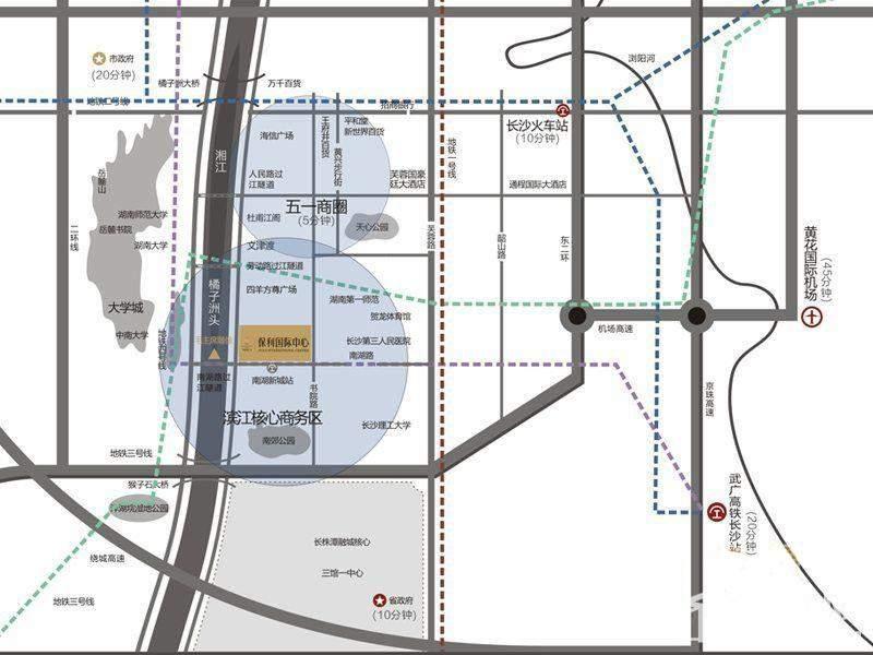 保利国际中心区位交通图
