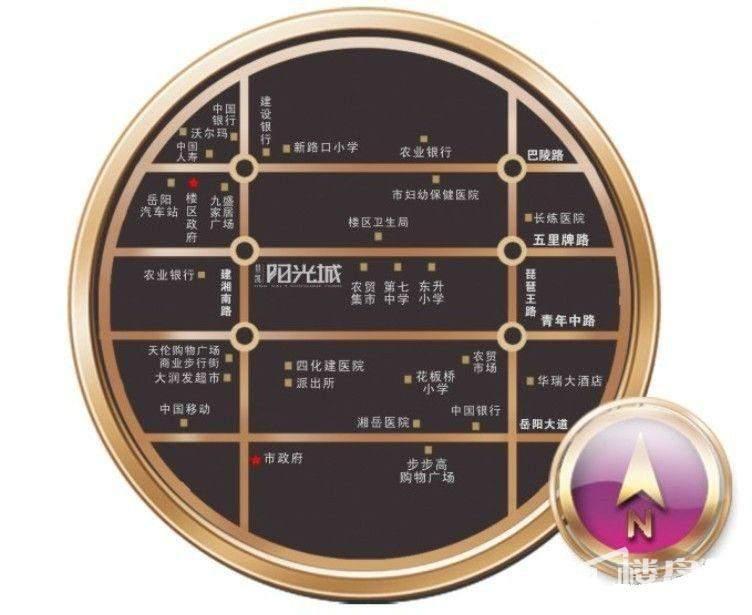 景凯·阳光城位置图