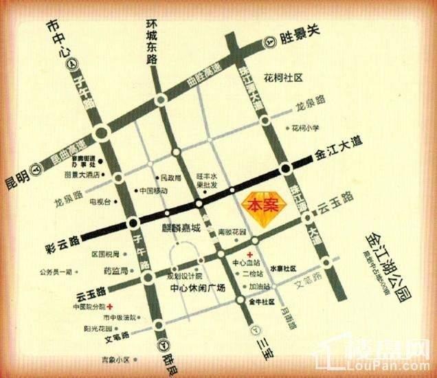 金座福城位置图