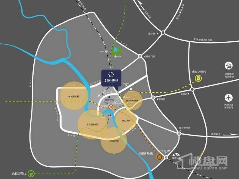 振业城中央位置图