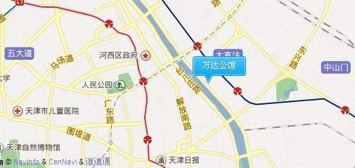 天津万达公馆位置图