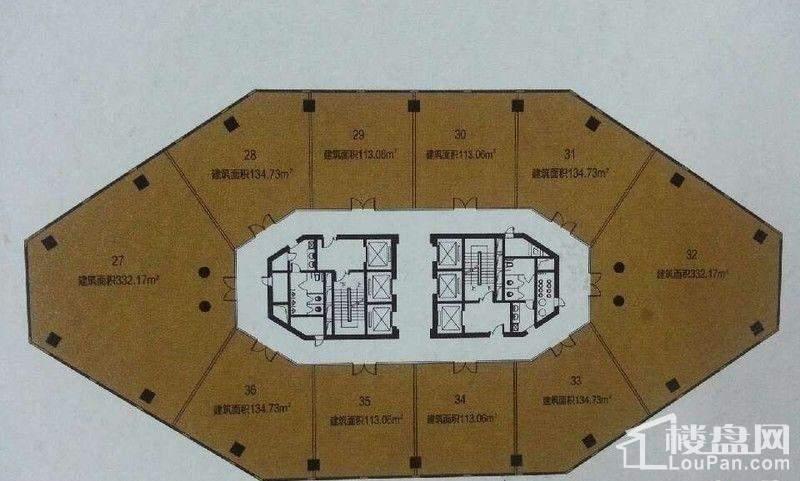 甲A单元15层平面