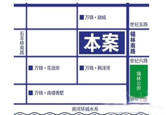 万锦香颂位置图