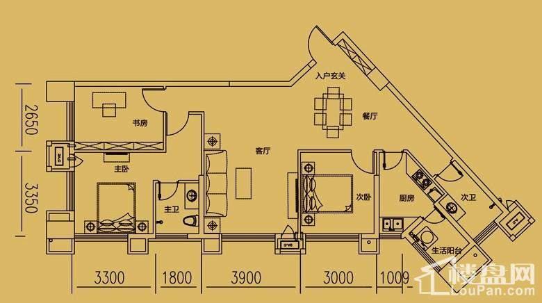 大财门 格调公寓24层户型