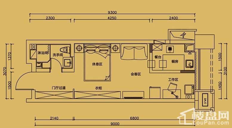 大财门格调公寓21-23层户型