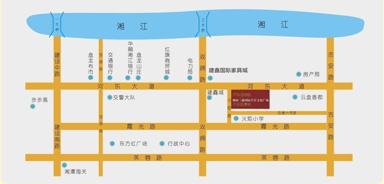湖南三鑫汽车国际文化广场位置图