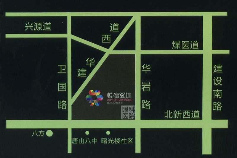 悦富强城位置图