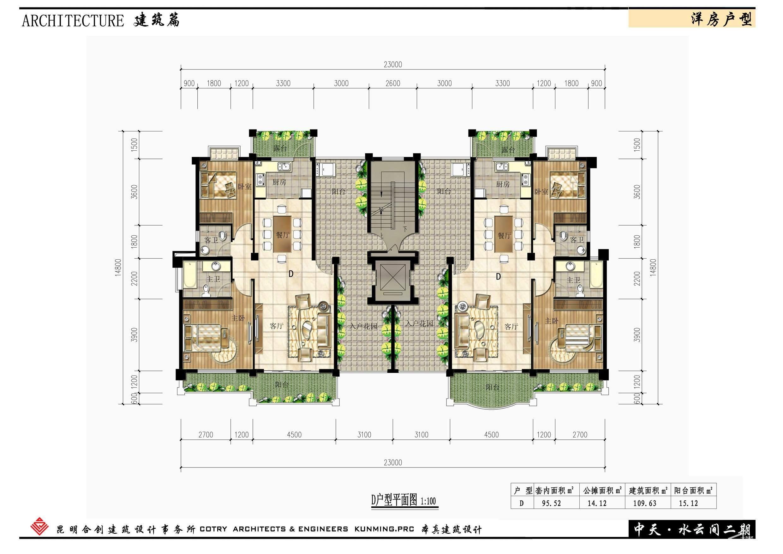 21建筑篇洋房户型3平面图
