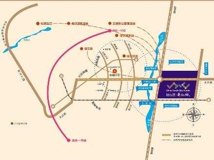 哈尔滨华南城商铺位置图