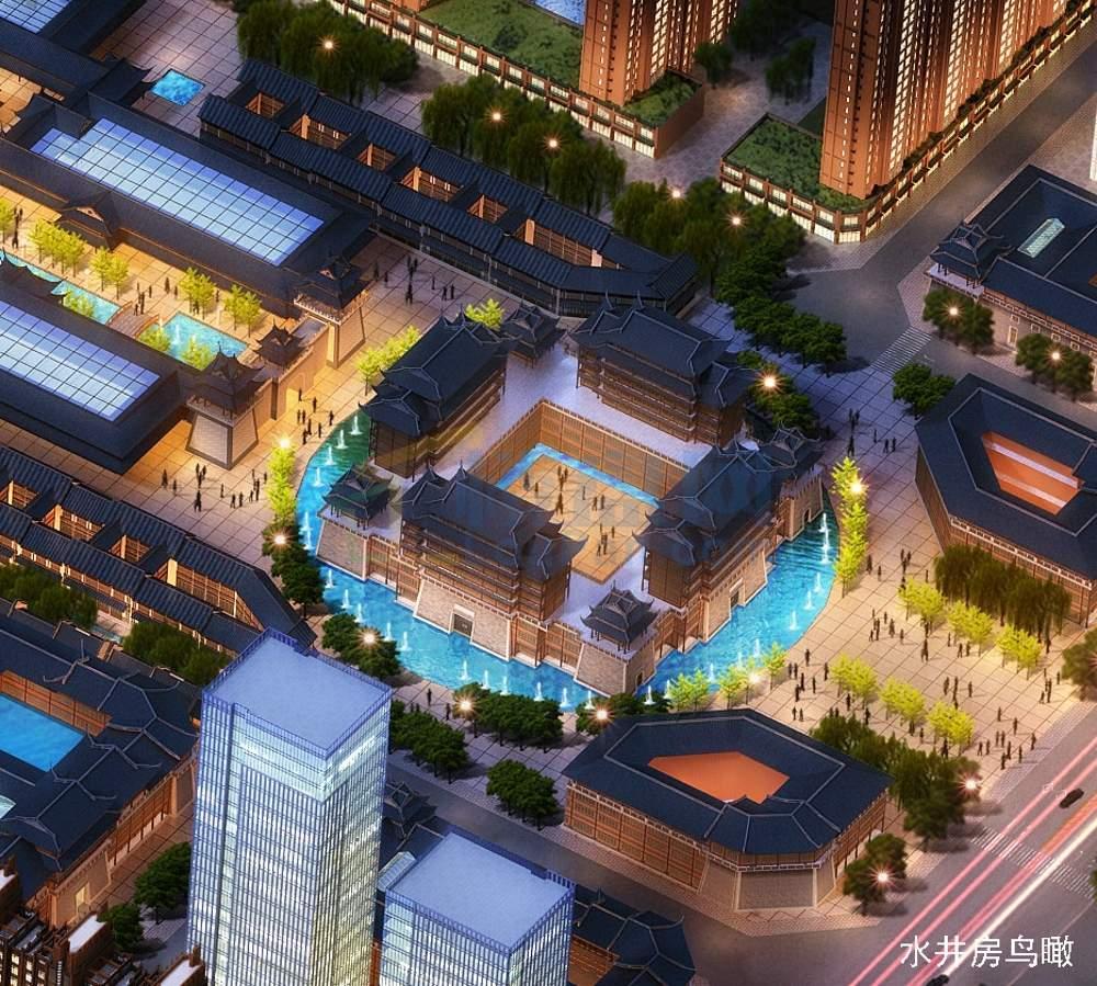 恒江七彩城实景图