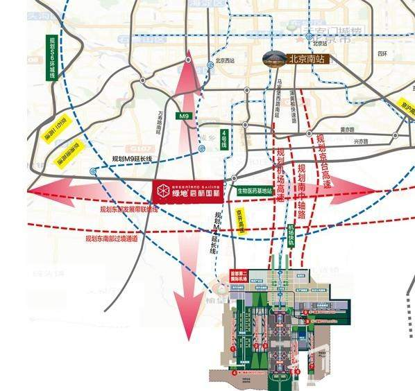 绿地·大兴启航国际位置图