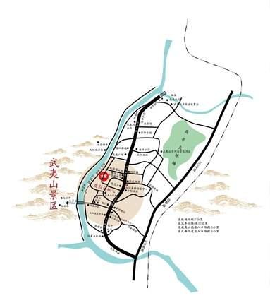 武夷山大国茶镇位置图