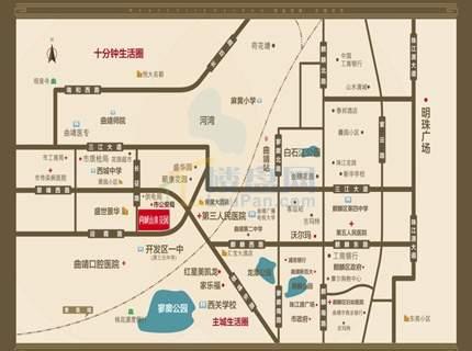 尚城山水花园位置图