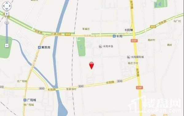 北京城建徜徉墅位置图