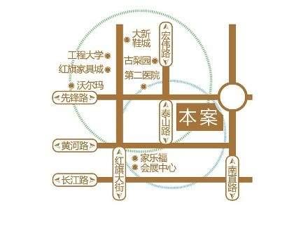 富达蓝山商铺位置图