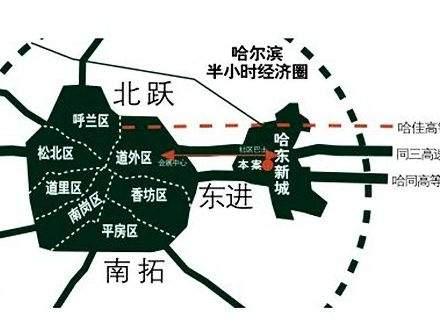 哈东城市公元位置图