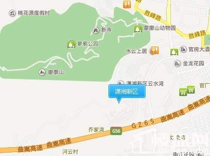 潇湘新区汇景园位置图